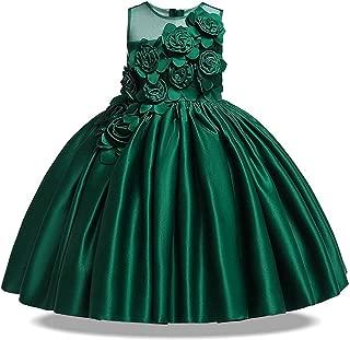 2019 Summer Party Princess Dress Girl Wedding Kids Dresses for Girls Bridesmaid Tutu Dress Elegant 10 12 Years,Green1,8