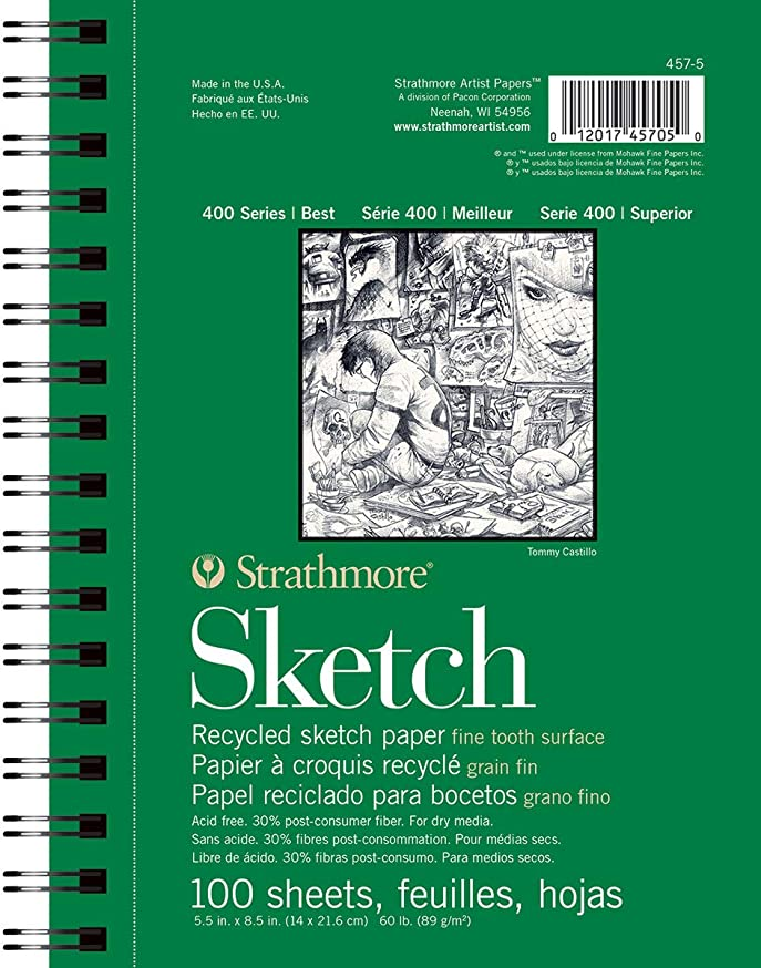 Strathmore 457-5 400 Series Recycled Sketch Pad, 5.5