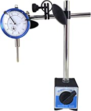 Magnetic Base with Fine Adjustment and SAE Dial Test Indicator with 0.0005: Resolution (half a thousandth), 1