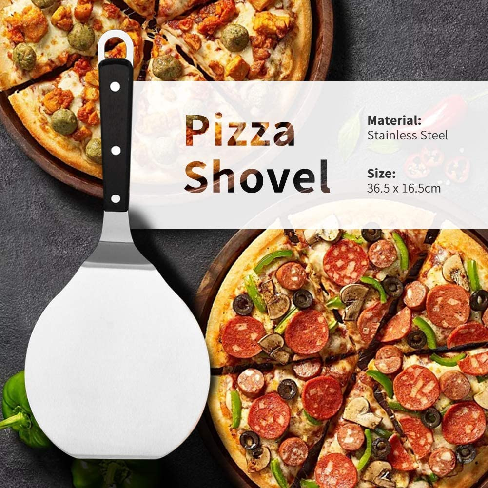 YYWJ Pizza Peel Paddle /& Cake Lifter,Stainless Steel Pizza Scoop,Cake Pizza Round Baking Tool,for Baking on Pizza,Oven and Grill