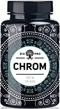 DiaPro® Chrom Hochdosierte Chrom-Tabletten mit 200 mcg Chrom pro Tablette zur Aufrechterhaltung eines normalen Blutzuckerspiegels aus Chrom-Picolinat 365 Stück Jahresvorrat 100% Vegan Laborgeprüft