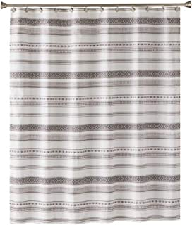 SKL Home by Saturday Knight Ltd. Geo Stripe Shower Curtain, Black