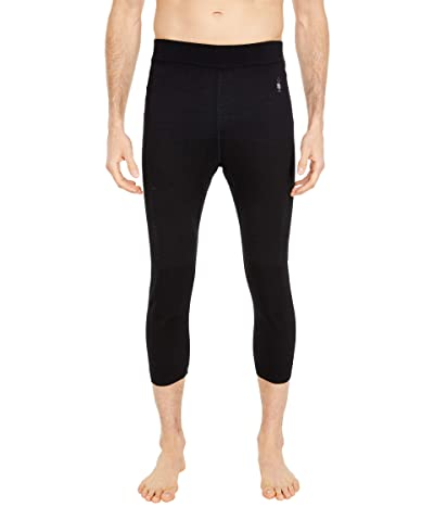 Smartwool Intraknit Merino 200 3/4 Bottoms (Black/White) Men