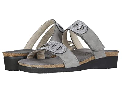Naot Ainsley (Light Gray Nubuck/Gray/Silver Rivets) Women