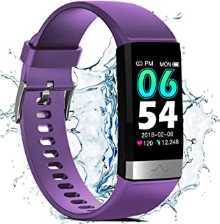 Waterproof Fitness Tracker for Women Men,1.14'' HD Screen SpO2 Health Watch with Heart Rate Blood Pressure HRV Monitor,Activity Tracker with Blood Oxygen Sleep Pedometer for iOS Android Phones