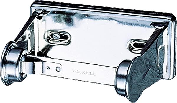 San Jamar R200XC Stainless Steel Standard Roll Locking Toilet Tissue Dispenser