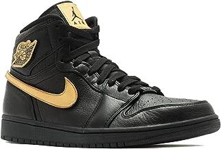 Nike Mens Air Jordan 1 Retro High BHM Black/Gold Leather Size 14