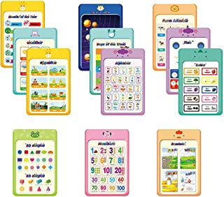 12 Pcs Large Laminated Educational Posters for Kids & Toddlers, Waterproof Learning Poster Charts for School,Preschool, Nu...