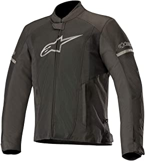 T-Faster Air Textile Street Motorcycle Jacket (XL, Black Black)