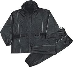 Milwaukee Leather Mens Waterproof Rain Suit Reflective Piping/Heat Guard