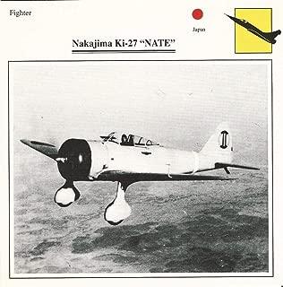 1990 Edito-Service, War Planes Cards, Airplanes, 100.14 Nakajima Ki-27 Nate