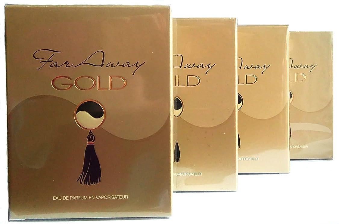 子孫ミュウミュウ天気4 x AVON Far Away Gold For Her Eau de Parfum 50ml