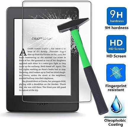 Kepuch Amazon Kindle Paperwhite 1/2 / 3 Protector de Pantalla - 2 Unidades Cristal Vidrio Templado 9H Dureza Screen Protector Film para Amazon Kindle Paperwhite 1/2 / 3