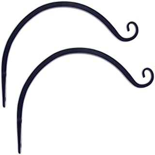 Gray Bunny GB-6838B Hand Forged Curved Hook, 8.5 Inch, Black, 2-Pack, for Bird Feeders, Planters, Lanterns, Wind Chimes, As Wall Brackets and More!