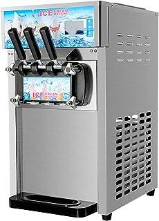Z ZELUS 1200W Sorbetière Professionnelle Commerciale, Machine à Glace Électrique, Machine à Crème Glacée Professionnelle, ...