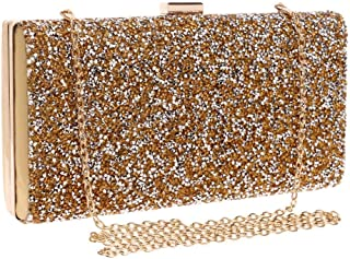 Fine Bag/Ladies Banquet Bag Crystal Clutch Bag Party Large Capacity Package Banquet Bag (Color : Gold, Size : One Size)