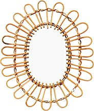 Rotan Spiegel Rond Wandspiegel Rotan Rieten Spiegel Wandspiegel Decoratie Spiegel Boho Dressing Spiegel Voor Appartement W...