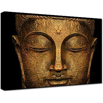 QUADRI MODERNI BUDDHA V QUADRO MODERNO STAMPA SU TELA 100x70 CM