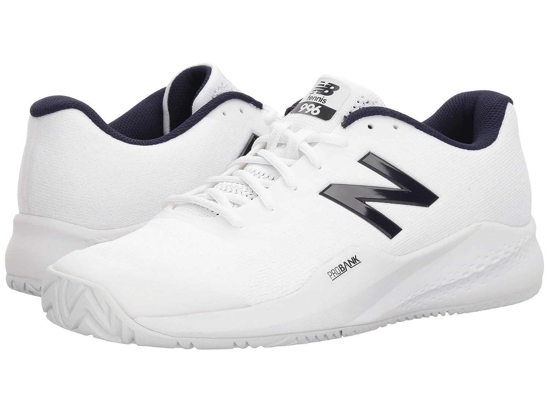 (ニューバランス) New Balance メンズテニスシューズ?スニーカー?靴 996v3 White/White 7.5 (25.5cm) EE - Wide