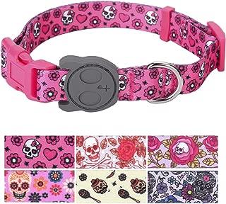 PetANTastic Best Adjustable Dog Collar Durable Soft & Heavy Duty with Halloween Sugar Skull Design, Outdoor & Indoor use Comfort Dog Collar for Girls, Boys, Puppy, Adults