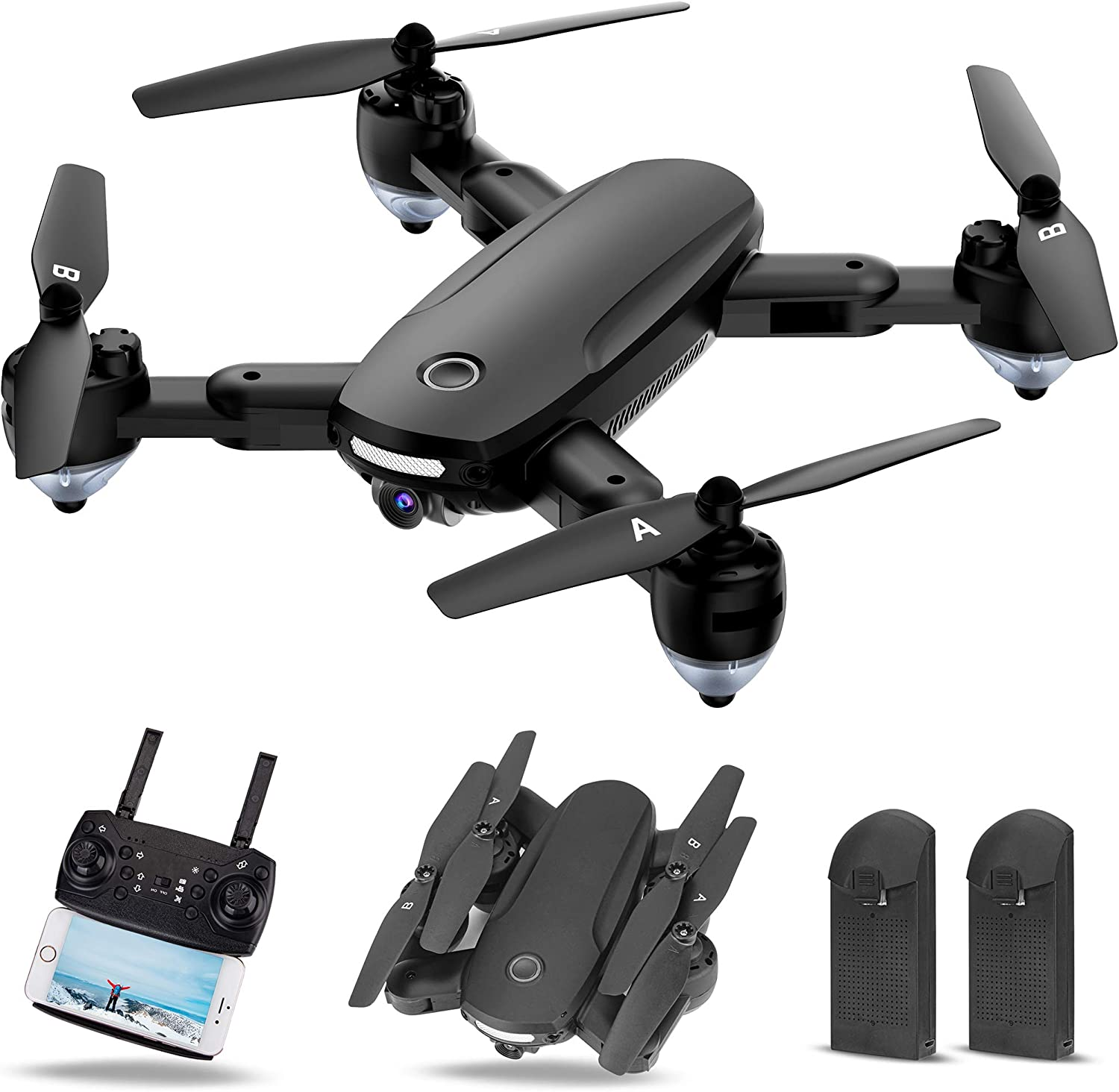 Twister.CK Drone with Phoenix Mall Camera 720P HD Foldable Adults RC for Qua Branded goods