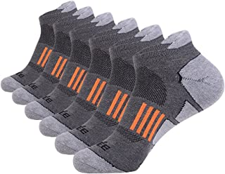 Men's Ankle Athletic Socks Running Sports Comfort Cushioned Tab Socks (6 Pack)