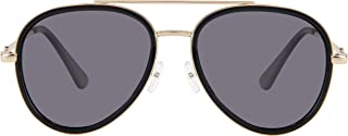 Double Bridge Metal Aviator Men Women Designer sunglasses with Pouch