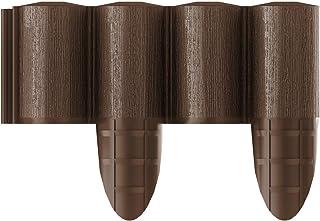 Cellfast, Borde para Macizo de Flores 5901828858512, empalizada, marrón, 8Piezas (2,4x 0,3m)