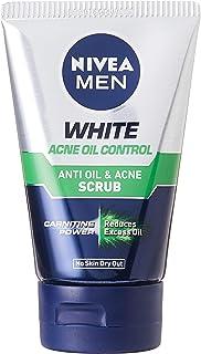 NIVEA Men White Acne Oil Control & Acne Scrub, 100 milliliters