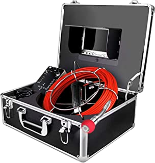Borescope Camera 100ft Snake Cam with Distance Counter DVR Video Sewer Pipe Inspection Equipment 7 inch LCD Monitor Duct HVAC 1000TVL Sony CCD Endoscope Waterproof Ip68 Cable 30M (Free 8GB SD Card)