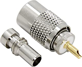 PL-259 Connectors, 20-Pack UHF PL 259 Male Connector, Solder Type Plug with Reducer, RFAdapter 50ohm for RG59, RG8, RG8x, ...