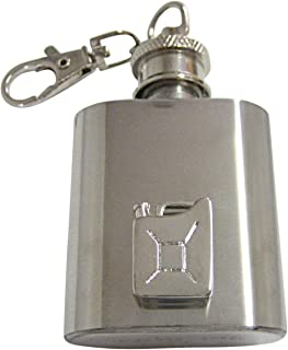 Kiola Designs Jerry Can Gas Can 1 Oz. Stainless Steel Key Chain Flask