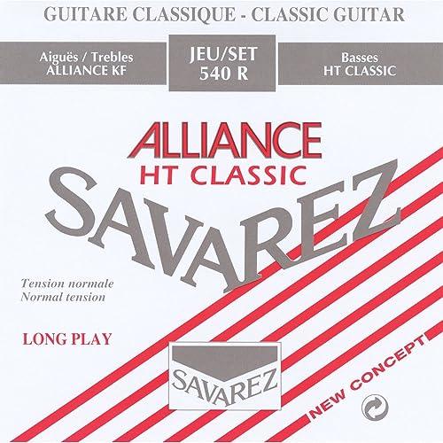 Savarez 540R Jeu de 6 cordes pour guitare classique en carbone Tension normale Multi