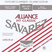Savarez cordes pour guitare classique Alliance HT Classic 546J cordes simples Mi6w Classic HT high