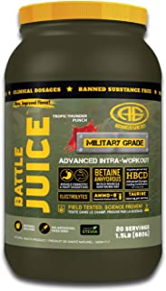 Advanced Genetics Battle Juice Intra-Workout w/EAAs (Essential Amino Acids) + Taurine, Betaine & Electrolytes – Increases Muscle Recovery & Maximize Growth – Thunder Punch - 1.5lb