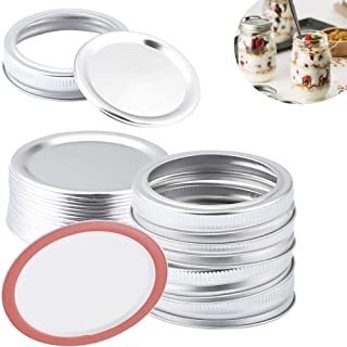 40 Pieces Canning Lids,Regular Mouth Canning Lids Rings for Mason Jar 70 mm, Made of Tinplate, Split-Type Lids and Bands