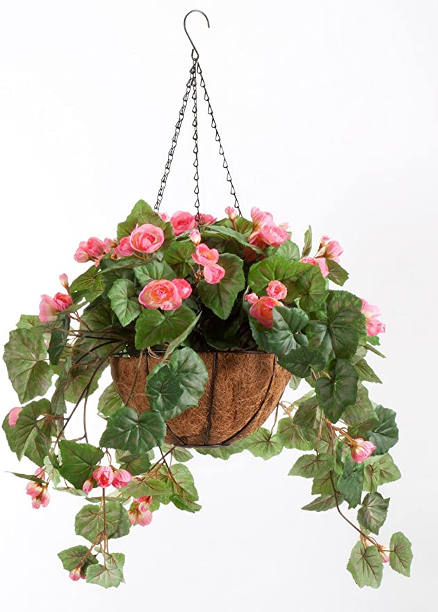 """10"""" Diameter with Details about  /OakRidge Fully Assembled Artificial Wisteria Hanging Basket"""