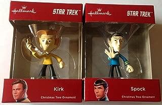 2018 Hallmark Star Trek Captain Kirk & Spock Christmas Ornament Set of 2