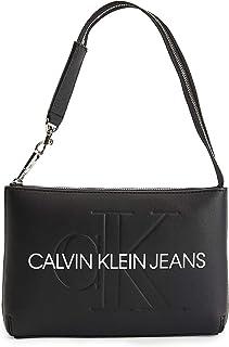 CALVIN KLEIN JEANS Womens Shoulder Pouch Cross Body Bag Handbag Black ONE Size