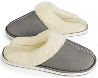 Women Slippers Memory Foam Fluffy Warm Comfy Soft Fuzzy Plush Non Slip House Shoes for Indoor & Outdoor Use