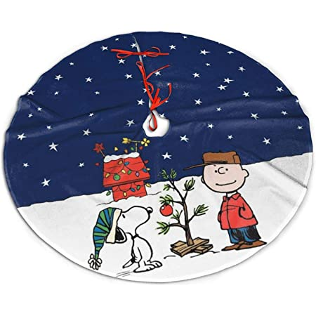 WOMFUI Christmas Tree Skirts Peanuts Mat Festival Ornaments for Home 36 Inch