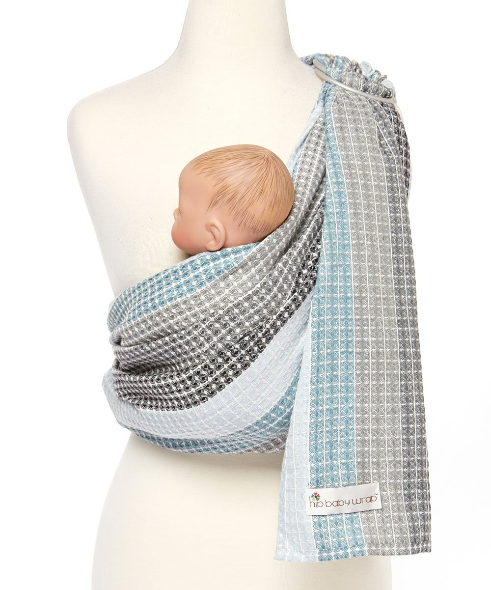Summer Rainbow Hip Baby Wrap Ring Sling Baby Carrier for Infants and Toddlers