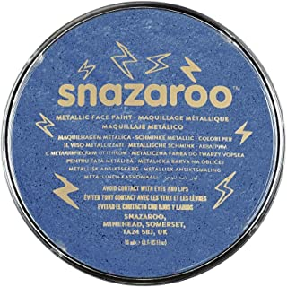 Snazaroo Metallic Face Paint, 18ml, Electric Blue, One Size