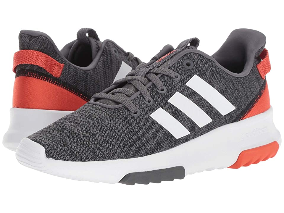 adidas Kids Cloudfoam Racer TR (Little Kid/Big Kid) (Black/White/Raw Amber) Kids Shoes