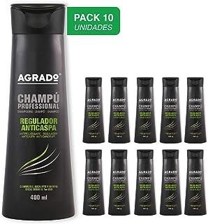 Champú profesional Regulador Anticaspa Agrado 400 ml - Pack de 10 unidades
