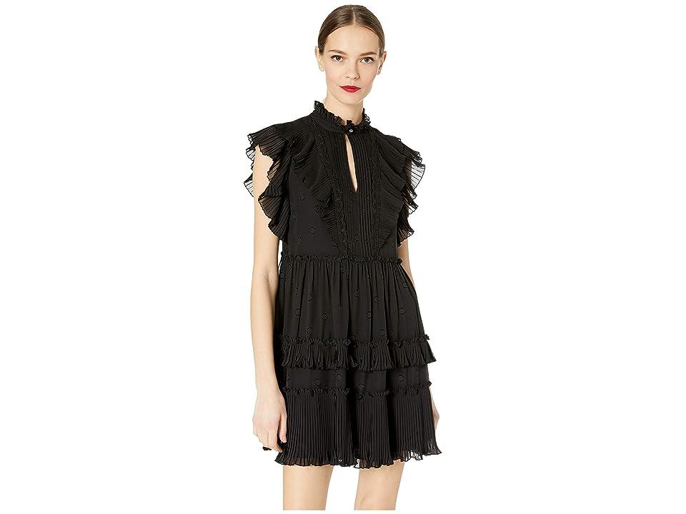 Kate Spade New York Glitzy Ritzy Bakery Dot Devore Dress (Black) Women