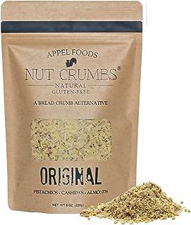 Appel Foods - Nut Crumbs - Bread Crumb Alternative - Gluten Free - Sugar Free - Low Carb - Low Sodium - Raw, Premium Nuts - Original