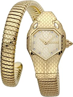 Just Cavalli Signature Snake Serpente Solo Stainless Steel Watch JC1L177M0025 - Quartz Analog for Women in Stainless Steel...