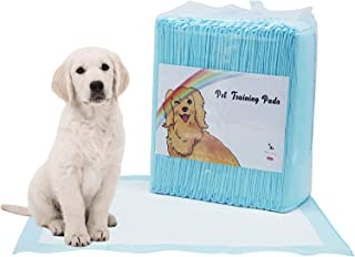 Disposable Dog Pet Training Pee Pads, Ultra Absorbent Wee-Wee Underpads, Incontinence Puppy Bed Pads, Unscented Portable f...