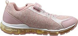 Geox Girls' Android 18 Sneaker Rose/White 24 M EU Toddler (8 US)